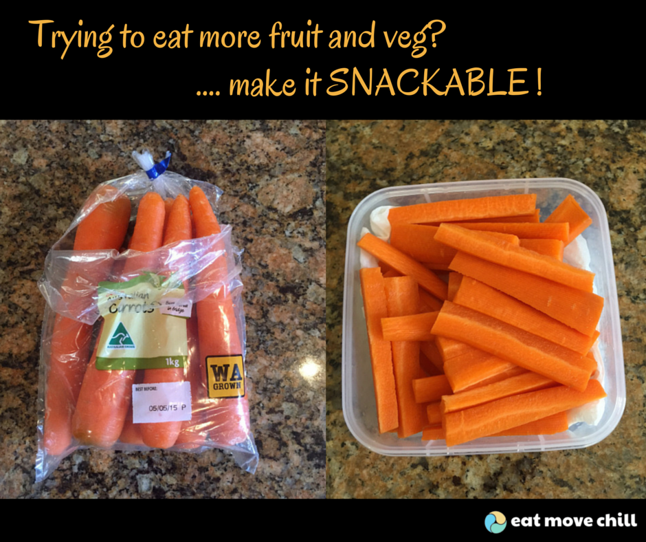 Wanna eat more carrots... make them snackable